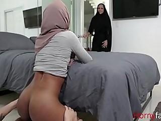Muslim Sister Fucks Bro With Hijab On
